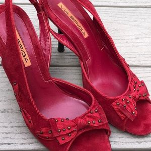 VIA SPIGA. Red suede high heel